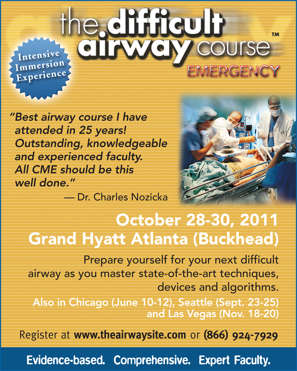 The Difficult Airway Course: Emergency flyer