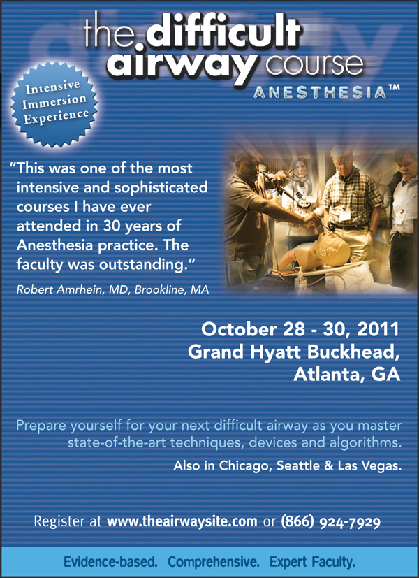 The Difficult Airway Course: Anesthesia flyer